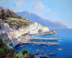 Амалфи - картина на Адолфо Фава