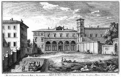 Базилика Святого Петра в веригах - гравюра