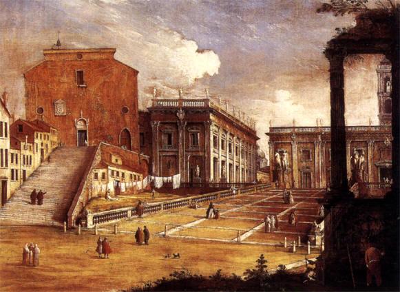 Basilica di Santa Maria in Aracoeli - картина Bernardo Canal