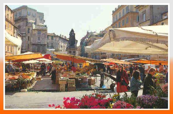 Площадь Цветов - Рим