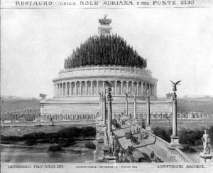 Мавзолей императора Адриана - реконструкция по сохранившимся описаниям.