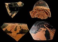 Керамические остатки, украшавшие святилище этрусков в Орвието
