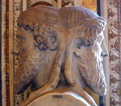 Янус - бог дверей, а также входов и выходов, начала и конца