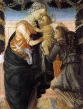 Боттичелли. Мадонна и младенец с ангелом.