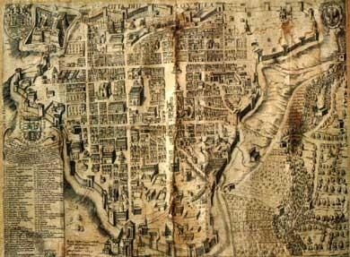 Античная карта Акуилы
