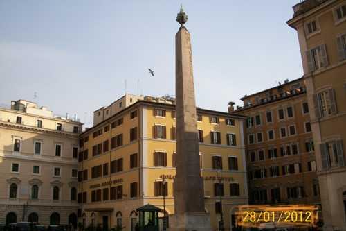Обелиск на площади Монтечиторио - Рим