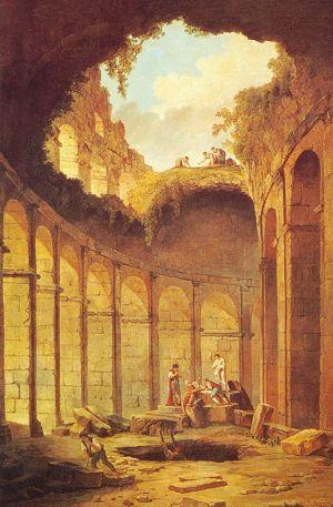 Раскопки в Колизее - Х. Роберт (XVIII в.)