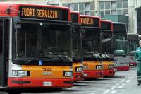 Забастовка работников общественного транспорта в Риме - фото