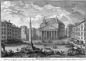 Пантеон - гравюра Джузеппе Вази (1710 - 1782)